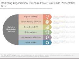 Marketing Organization Structure Powerpoint Slide Presentation Tips