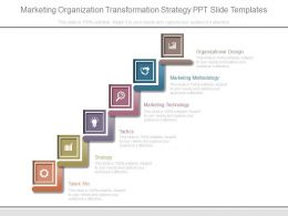 Marketing Organization Transformation Strategy Ppt Slide Templates