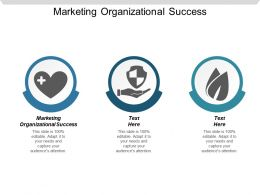 Marketing Organizational Success Ppt Powerpoint Presentation Gallery Graphics Template Cpb