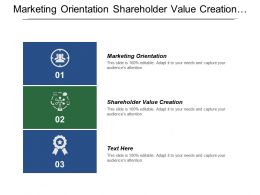 Marketing Orientation Shareholder Value Creation Researching Target Customer