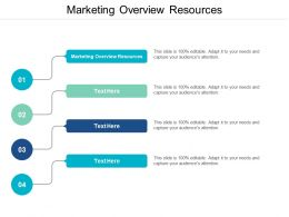 Marketing Overview Resources Ppt Powerpoint Presentation Icon Example Cpb