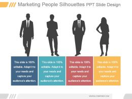 Marketing People Silhouettes Ppt Slide Design