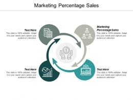 Marketing Percentage Sales Ppt Powerpoint Presentation Ideas Grid Cpb