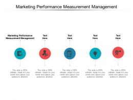Marketing Performance Measurement Management Ppt Powerpoint Model Cpb
