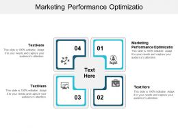 Marketing Performance Optimizatio Ppt Powerpoint Presentation Portfolio Show Cpb