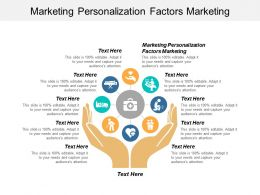 Marketing Personalization Factors Marketing Ppt Powerpoint Presentation Professional Demonstration Cpb
