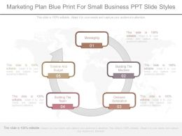 Marketing Plan Blue Print For Small Business Ppt Slide Styles