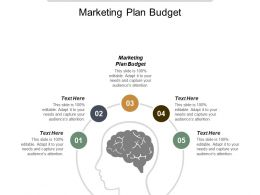 Marketing Plan Budget Ppt Powerpoint Presentation File Clipart Images Cpb