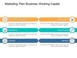 Marketing Plan Business Working Capital Retargeting Angel Funding Cpb
