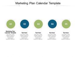 Marketing Plan Calendar Template Ppt Powerpoint Presentation File Designs Download Cpb
