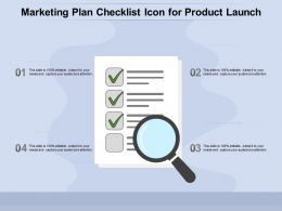 Marketing Plan Checklist Icon For Product Launch