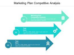 Marketing Plan Competitive Analysis Ppt Powerpoint Presentation Slides Cpb