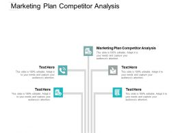 Marketing Plan Competitor Analysis Ppt Powerpoint Presentation Infographic Template Influencers Cpb