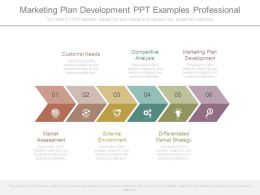 Marketing Plan Development Ppt Examples Professional