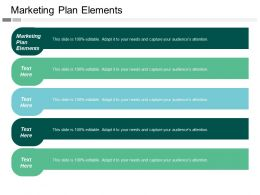 Marketing Plan Elements Ppt Powerpoint Presentation File Graphics Download Cpb