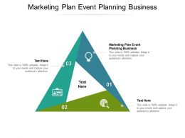Marketing Plan Event Planning Business Ppt Powerpoint Presentation Gallery Graphics Cpb