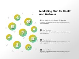Marketing Plan For Health And Wellness Ppt Powerpoint Presentation File Examples