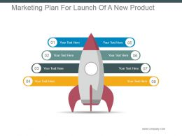 Marketing Plan For Launch Of A New Product Powerpoint Slide Deck Template