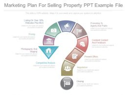Marketing Plan For Selling Property Ppt Example File