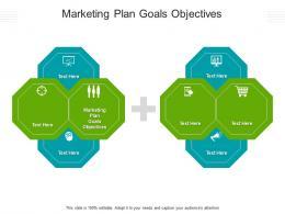 Marketing Plan Goals Objectives Ppt Powerpoint Presentation Slides Deck Cpb