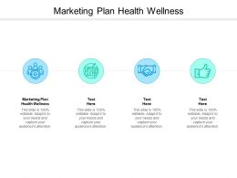 Marketing Plan Health Wellness Ppt Powerpoint Presentation Show Inspiration Cpb