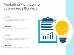 Marketing Plan Icon For Ecommerce Business