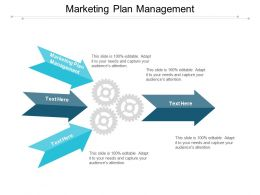 Marketing Plan Management Ppt Powerpoint Presentation Infographic Template Example Cpb