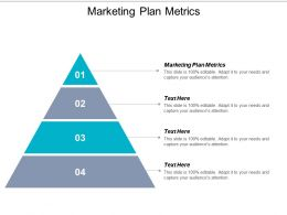 Marketing Plan Metrics Ppt Powerpoint Presentation Icon Graphics Example Cpb