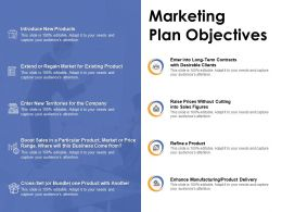 Marketing Plan Objectives Ppt Powerpoint Presentation Ideas Tips