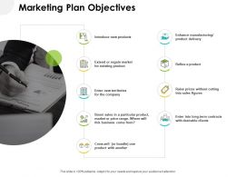 Marketing Plan Objectives Ppt Powerpoint Presentation Portfolio Icon