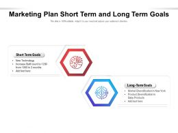 Marketing Plan Short Term And Long Term Goals