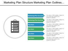 Marketing Plan Structure Marketing Plan Outlines Market Segmentation Variable Cpb