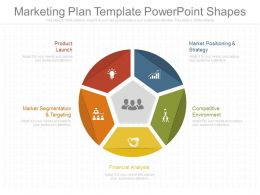 Marketing Plan Template Powerpoint Shapes