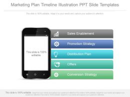 Marketing Plan Timeline Illustration Ppt Slide Templates