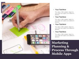 Marketing Planning And Process Through Mobile Apps