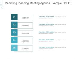 Marketing Planning Meeting Agenda Example Of Ppt