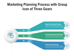 Marketing Planning Process With Group Icon Of Three Gears