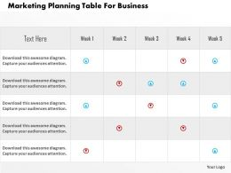 Marketing Planning Table For Business Flat Powerpoint Design