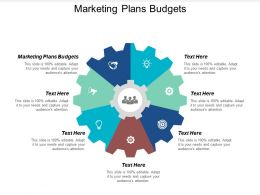 Marketing Plans Budgets Ppt Powerpoint Presentation Gallery Graphics Cpb