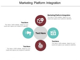 Marketing Platform Integration Ppt Powerpoint Presentation Icon Infographics Cpb