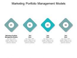 Marketing Portfolio Management Models Ppt Powerpoint Presentation Inspiration Slide Portrait Cpb