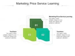 Marketing Price Service Learning Ppt Powerpoint Presentation File Objects Cpb