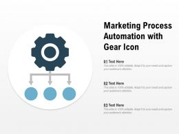 Marketing Process Automation With Gear Icon