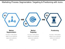 Marketing Process Segmentation Targeting And Positioning With Icons