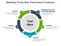 Marketing Productivity Performance Evaluation Ppt Powerpoint Good Cpb