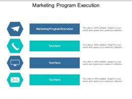 Marketing Program Execution Ppt Powerpoint Presentation Styles Background Cpb