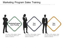 Marketing Program Sales Training Ppt Powerpoint Presentation Professional Background Images Cpb