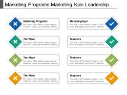 Marketing Programs Marketing Kpis Leadership Development Employee Development Cpb