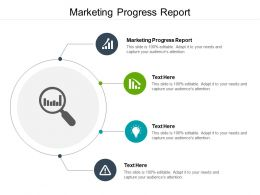 Marketing Progress Report Ppt Powerpoint Presentation Styles Image Cpb