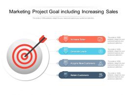 Marketing Project Goal Including Increasing Sales